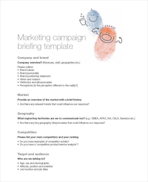 Marketing Brief Template Free Word Excel Documents Download Free Premium Templates