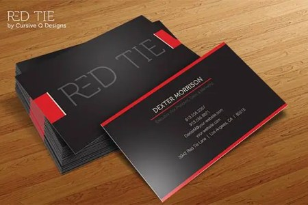 68  Best PSD Business Card Templates   Free   Premium Templates business card template red tie