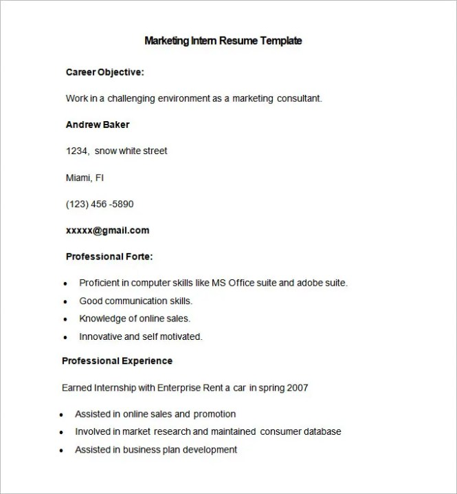 marketing resume template 37 free samples examples format - Resume Samples For Marketing