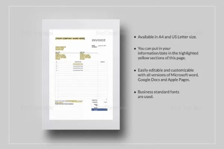 Excel Invoice Template   31  Free Excel Documents Download   Free     Sales Tax Invoice Template