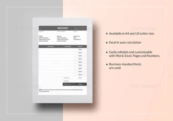 Mychjp Page 18 Template Forms For Business Template Invoices  Book     Blank Invoice Templates Free Premium Templates   Invoice template excel  download free online comic book store
