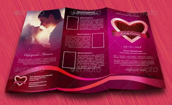 15 Fabulous Valentines Day Brochure Templates Free