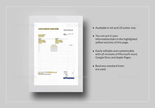 10  Free Tax Invoice Templates   Word Excel  AI   Free   Premium     Sales Tax Invoice Template