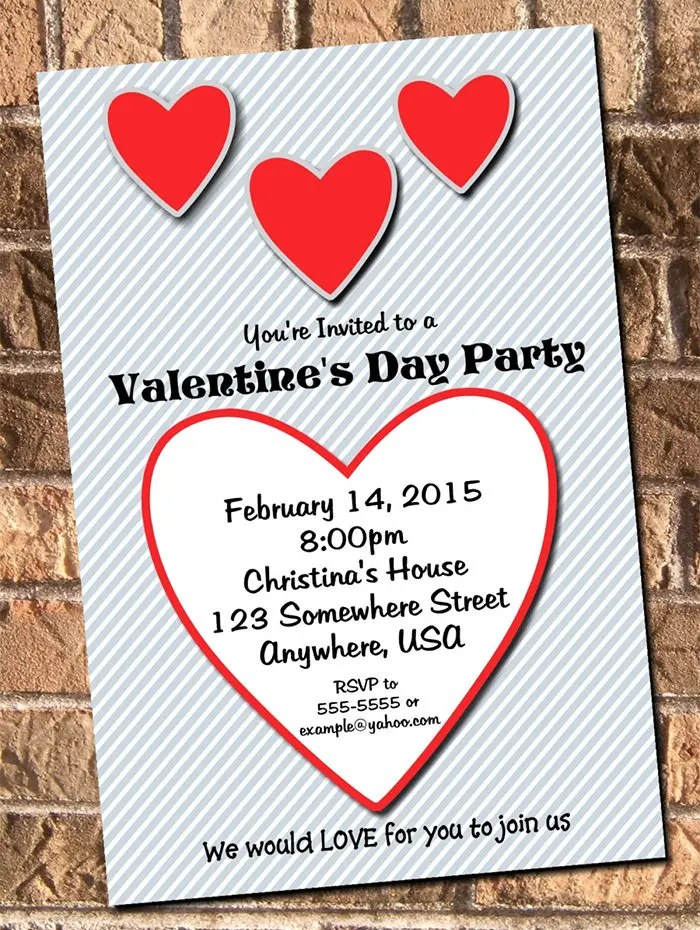 25 Best Valentine Invitation Templates For 2015 Free