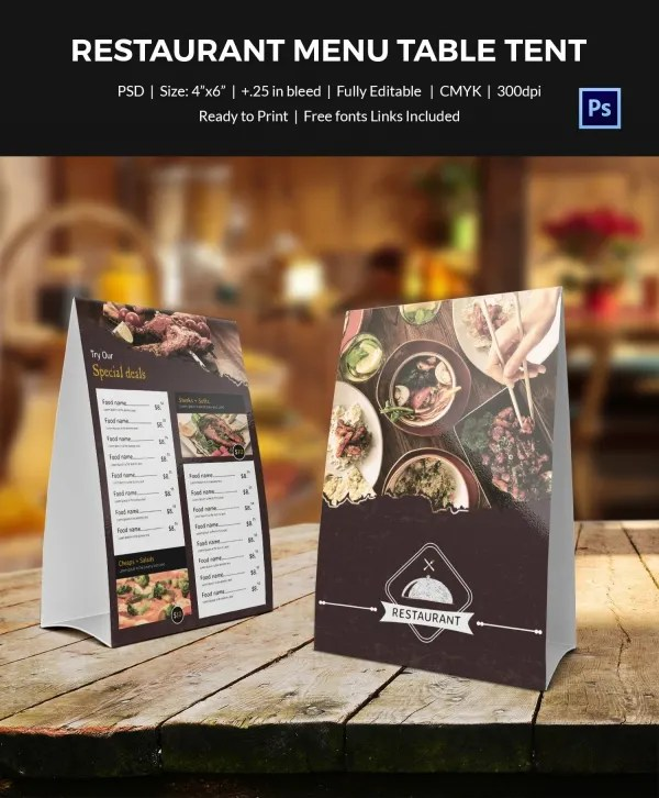 Table tent design template brokeasshome