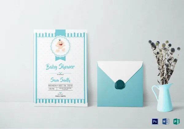 Baby Shower Invitation Template 29 Free PSD Vector EPS AI Format Download Free Premium