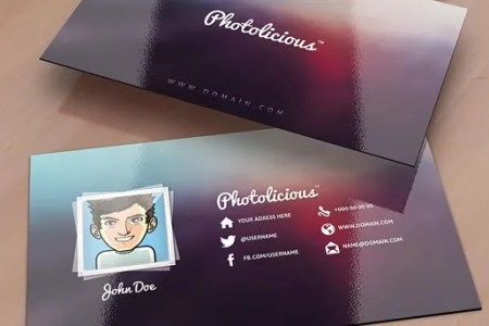 52  Photography Business Cards Free Download   Free   Premium Templates Photolicious Photographer Card