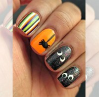 halloween fingernail art designs