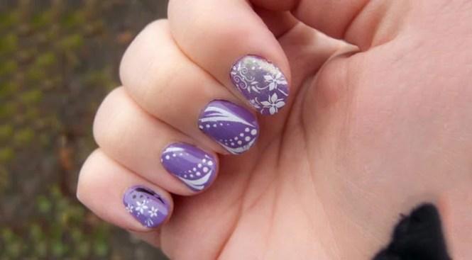 Purple Acrylic Nail Designs