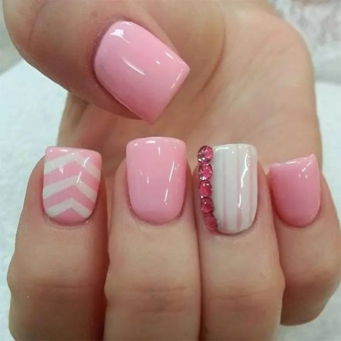 Cool Simple Design Beautiful 15 Easy Pretty Nail Designs With Image Of Remodelling