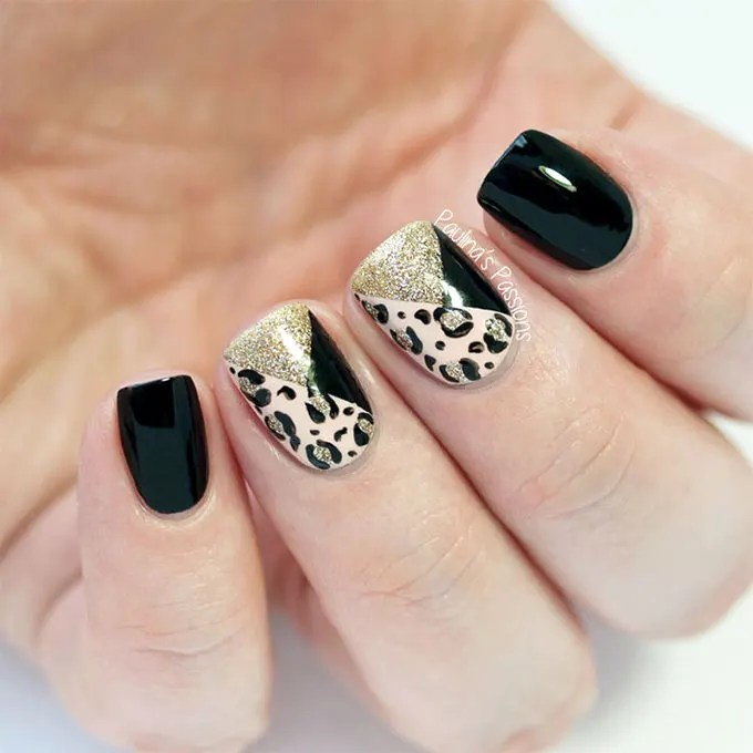 Creative Animal Print Nail Art