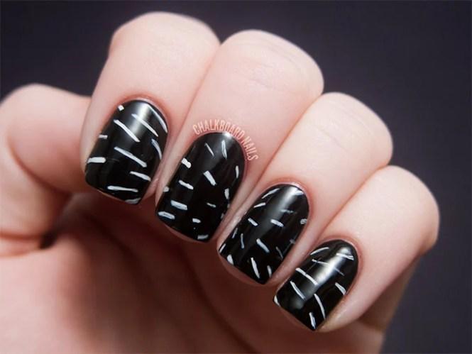 Pretty Black And White Nail Designs