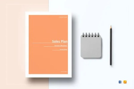 Financial Business Plan Templates   8  Free   Premium Word  Excel     Sample Sales Plan Template