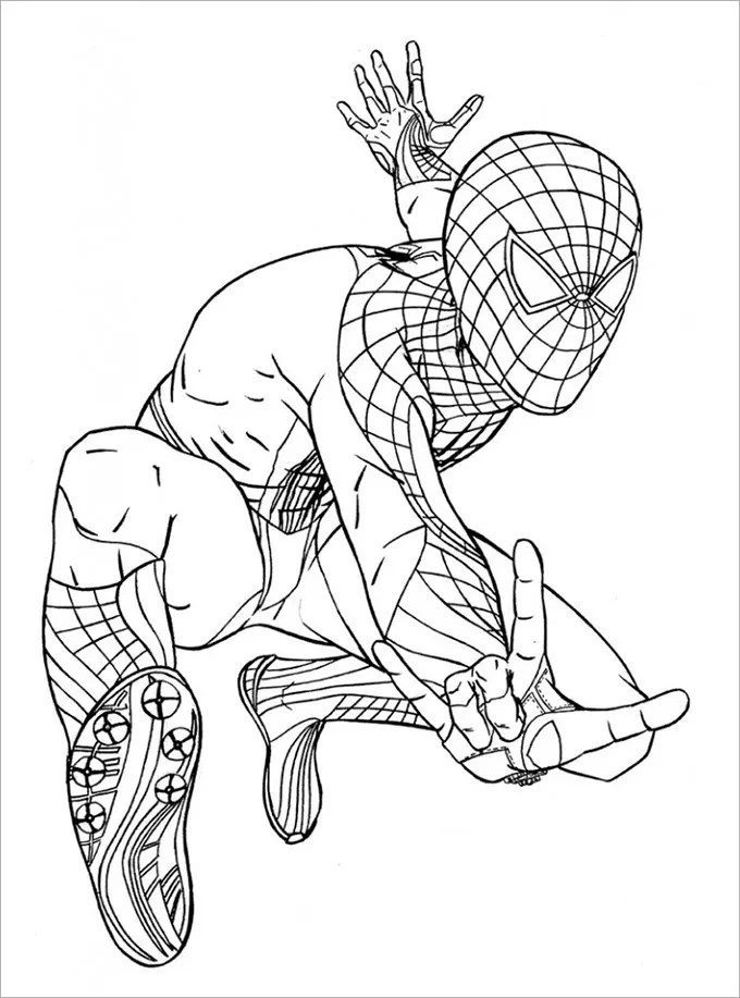 30 Spiderman Colouring Pages Printable Colouring Pages Free Premium Templates