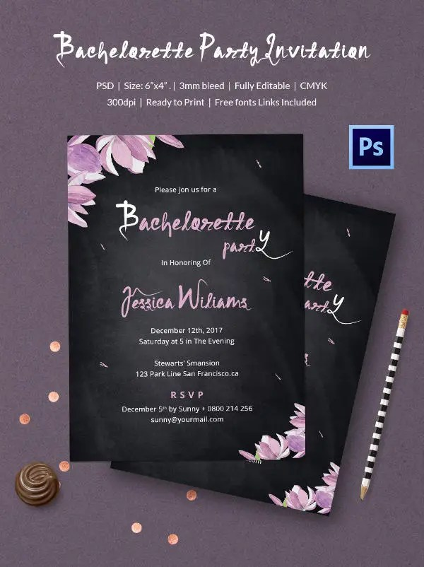 Chalkboard Invitation Template 45 Free JPG PSD Indesign Format Download Free Premium