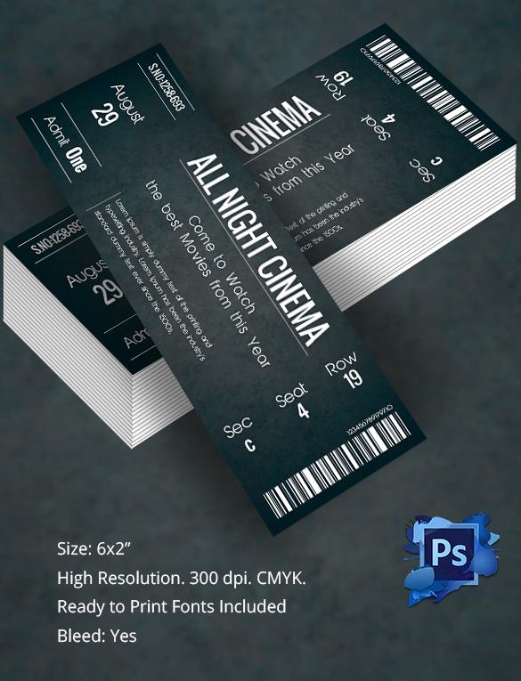 40 Ticket Invitation Templates PSD Invitations Free