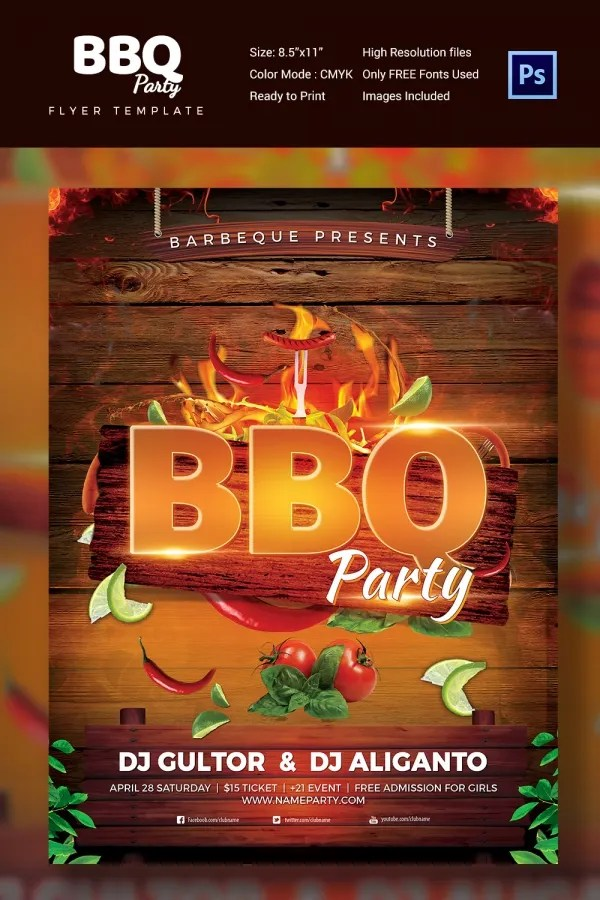 Bbq Flyer Template Free Psd Its Your Template