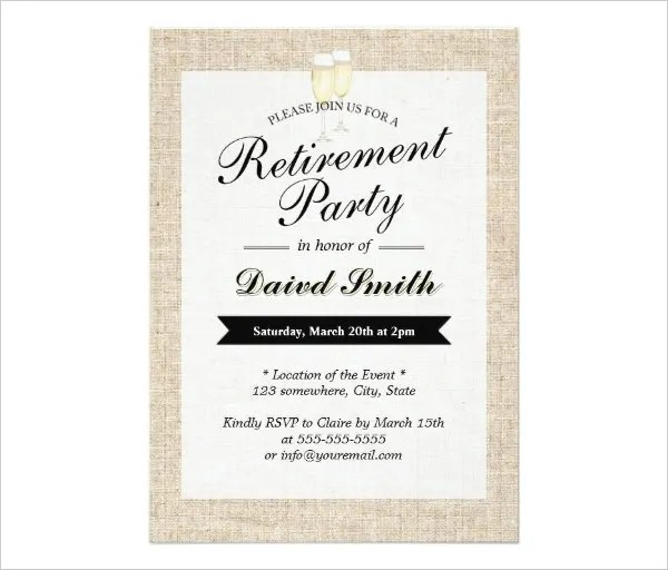 retirement party invitation card, Party invitations