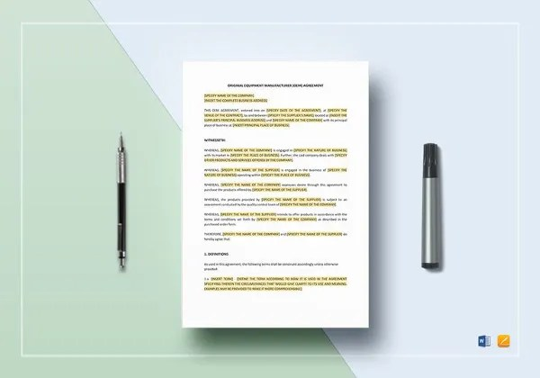 21 Equipment Rental Agreement Templates Free Sample Example OEM Template