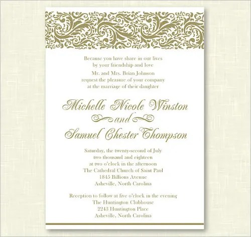 Personalized Wedding Formal Invitation Template