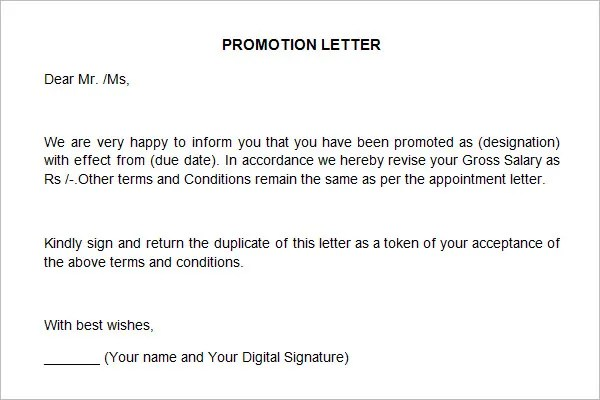 promotion announcement letter - Mersn.proforum.co