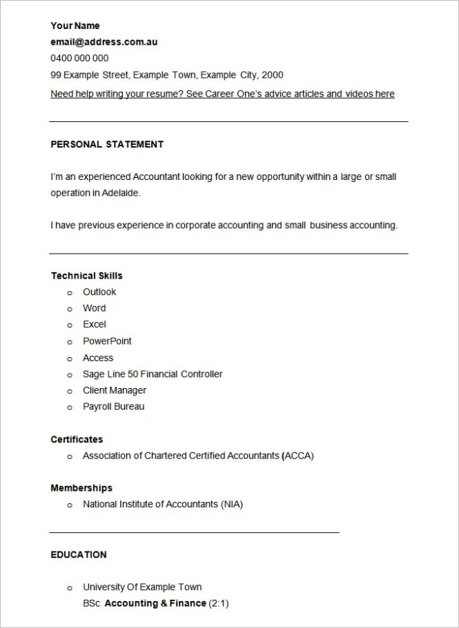 Accounting Resume Samples Free Resume Sample