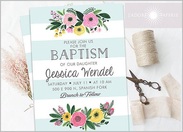 27 Baptism Invitation Templates PSD Word Publisher