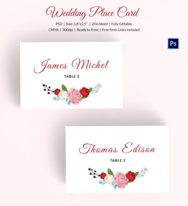 Wedding Place Card Digital