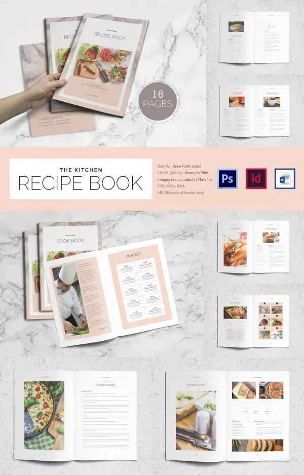 cookbook template free - free download