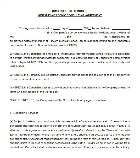 Consultant shall not be paid vacation, holiday or sick time during the term of agreement. Sample Letter Of Agreement For Consulting Services Free 8 Consulting Contract Forms In Pdf Ms Word Go For This Consulting Agreement Template Because It Is Easy To Edit And You