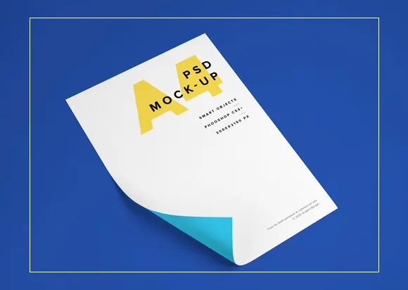 Download 27+ A4 Paper PSD Mockup Templates | Free & Premium Templates
