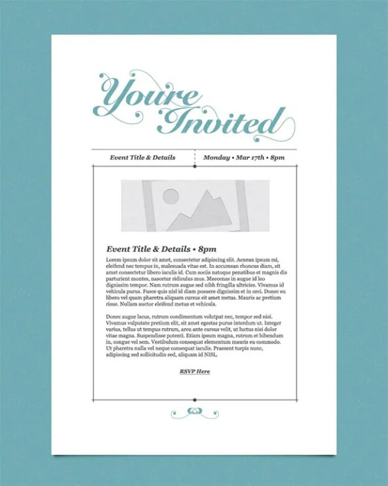 Business Event Invitation Designs - Wedding Invitation Sample