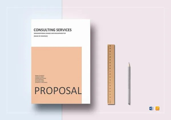 Consulting Proposal Template   16  Free Sample  Example  Format     Consulting Services Proposal Template