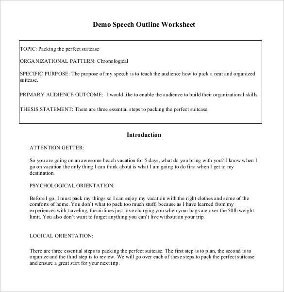 29 Speech Outline Templates