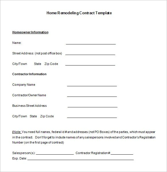 Understanding Your Roofing Contract Brady. Residential Roofing Contract Form
