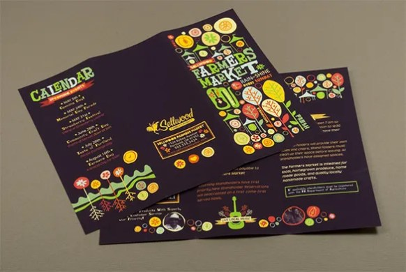 40  Brochure Design Ideas and Examples    Free   Premium Templates Farmers Market Brochure Desine Idea