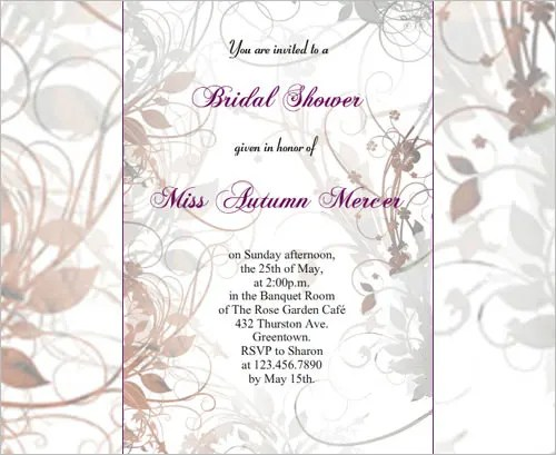 33 Psd Bridal Shower Invitations Templates Free Premium