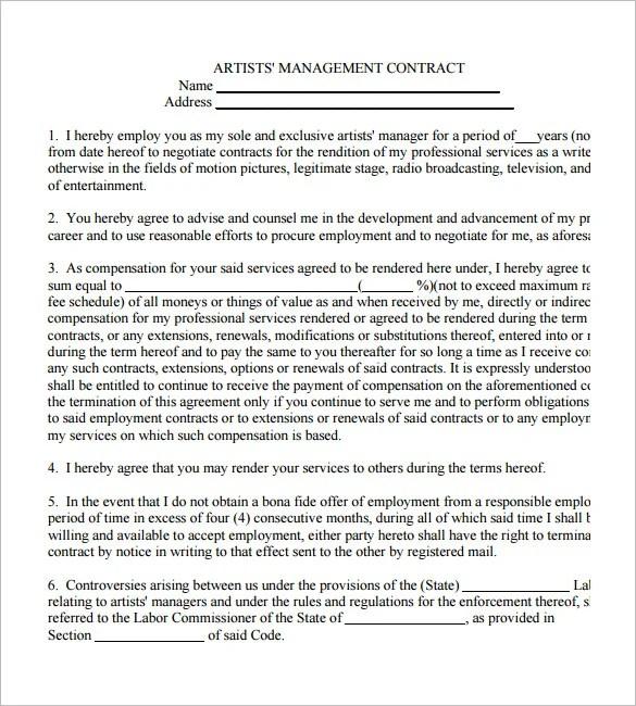 Manager contract templates exolabogados manager contract templates pronofoot35fo Gallery
