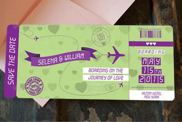 29 Boarding Pass Invitation Templates Psd Ai Vector Eps