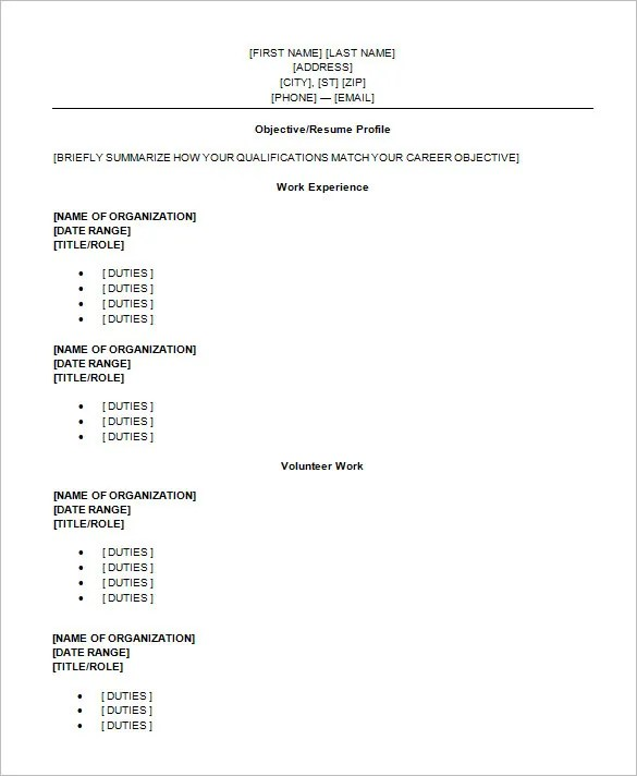 10 High School Resume Templates Pdf Doc Free Premium  Resume For Recent High School Graduate