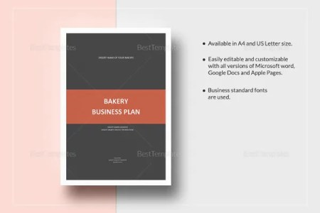 Bakery Business Plan Template   14  Free Sample  Example Format     Bakery Business Plan Template