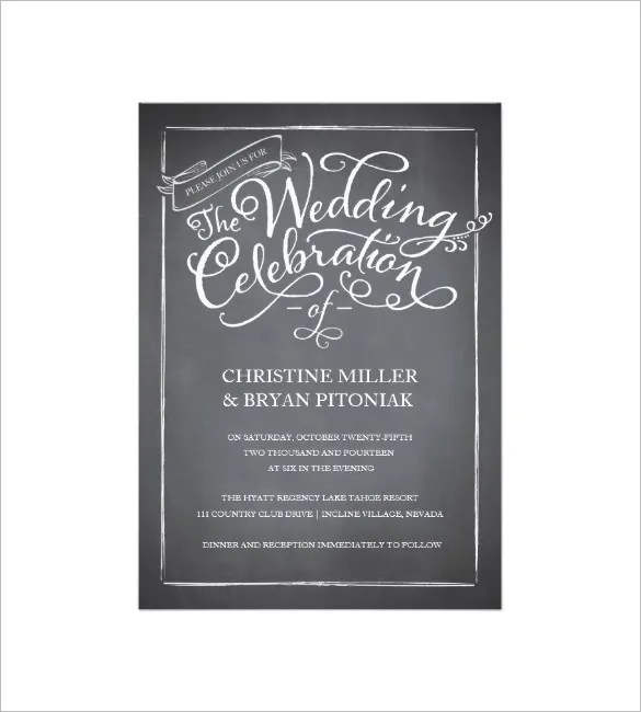 Stylized Laurels Printable Wedding Invitation Template