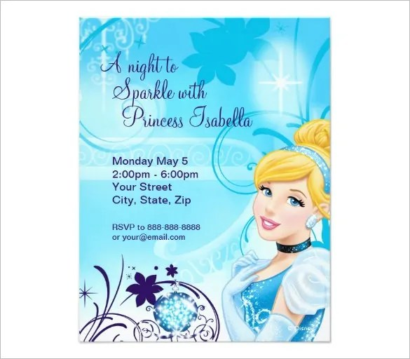 amazing cinderella invitation templates