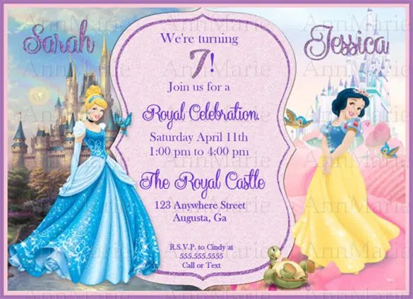 cinderella invitation to the ball template - royal prince theme birthday party