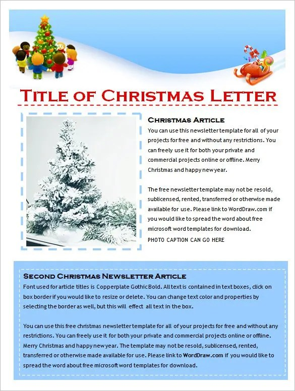 This Site Helps You To Remove Your Search To Get All Types Of Templates Of  Various Categories. You Can Also See The Christmas Newsletter Template  Given ...  News Letter Formats