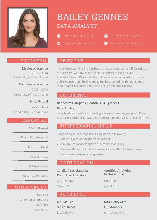Data Entry Resume Template 8 Free Word Excel PDF Format Download Free Amp Premium Templates