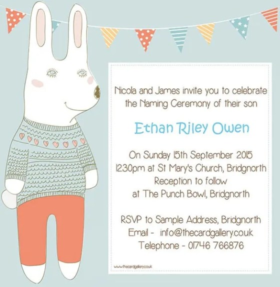 Invitation For Baby Naming Ceremony Sample - Wedding Invitation Sample