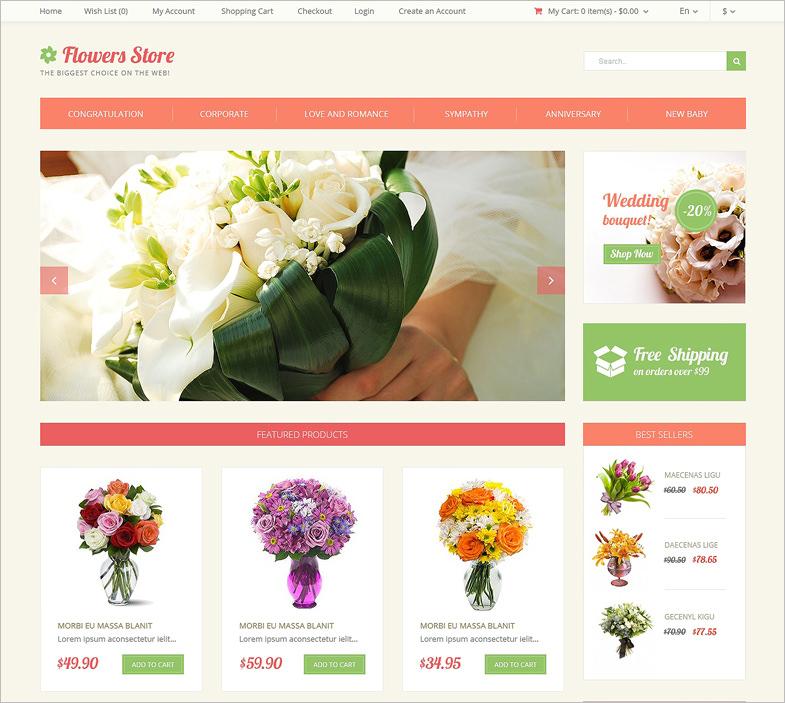 16 Beautiful Florists Website Templates Themes Free Premium Templates