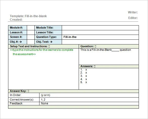 Blank Financial Statement  Free Download