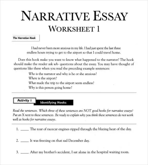 example of essay about yourself. preview english writing skill pages ...